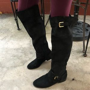 Ralph Lauren JEANETTE Oiled Suede Boots 10 new!